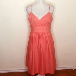 London Times Peach Fit and Flare Dress